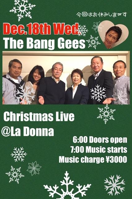 The Bang Gees Christmas Live @ La Donna