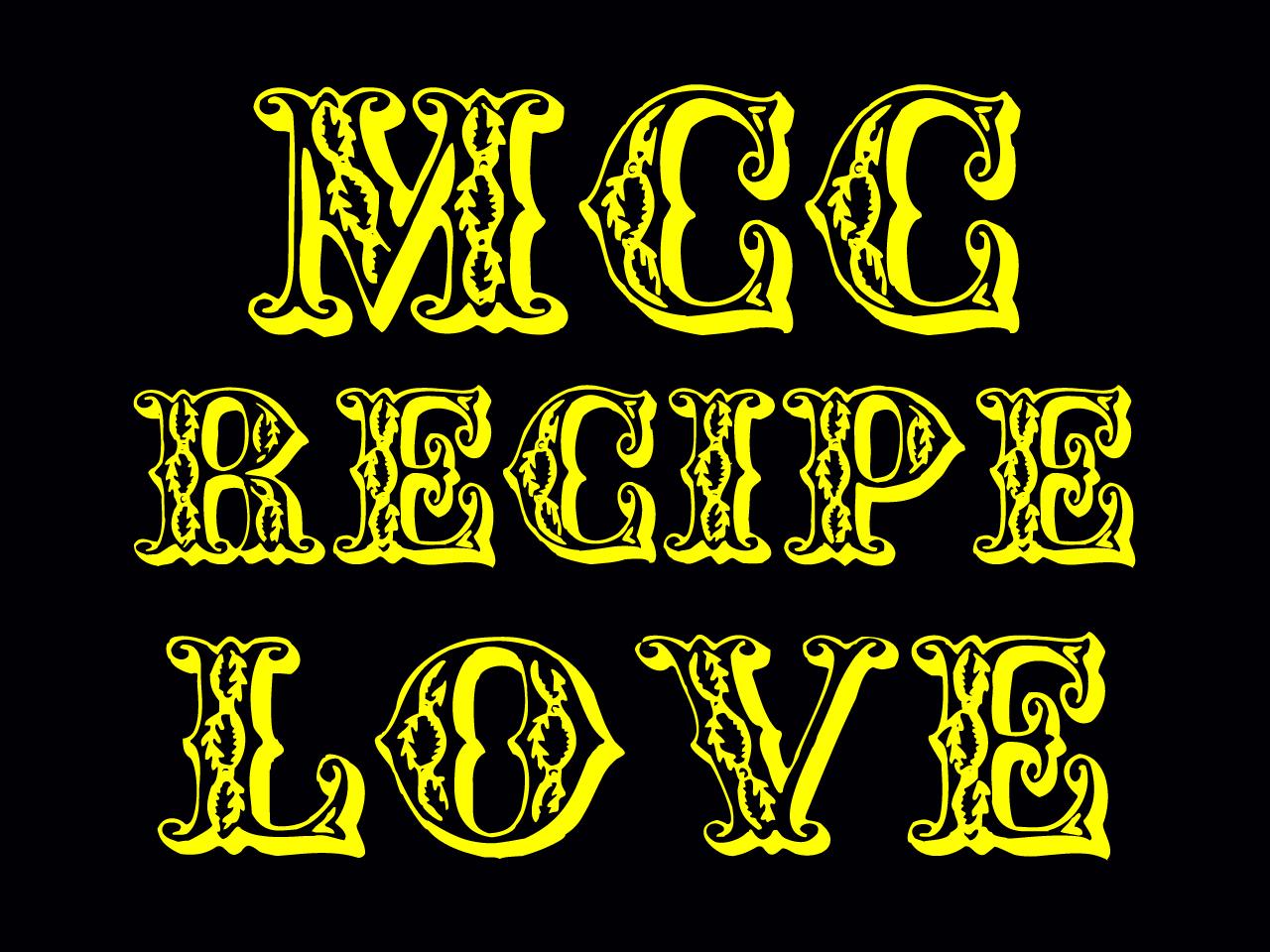 MCC レシピ. LOVE